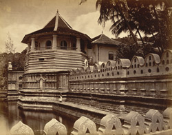 The Buddhist Temple at Kandy, Ceylon